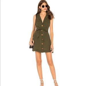 Free People Hepburn Dress In Moss. Size 0